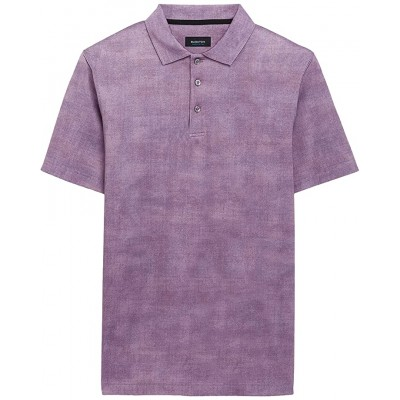 Andre Printed Ooohcotton Tech Performance Three-Button Polo 275 Shirts & Tops - BUGATCHI Men Clothing 824QC6331