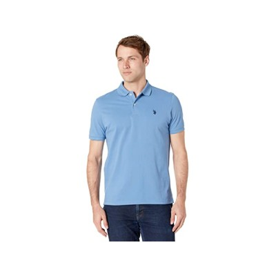 Men U.S. POLO ASSN. Solid Cotton Pique Polo with Small Pony Blue Point 8425563 FBAYH601