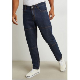 Men Styli blue Cut & Sew Relaxed Fit Jeans Ships Free VBLHN3833