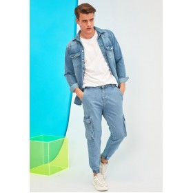 Men Trendyol navy Mid Wash Relaxed Fit Jogg Jeans Ships Free FZVNT4945
