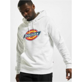 Dickies Men Hoodie Icon Logo in white cotton 42% polyester Cut Off NHISY848