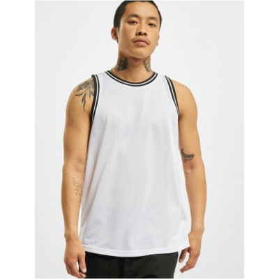 DEF Men Tank Tops Mesh in white polyester Ships Free MDUJS683
