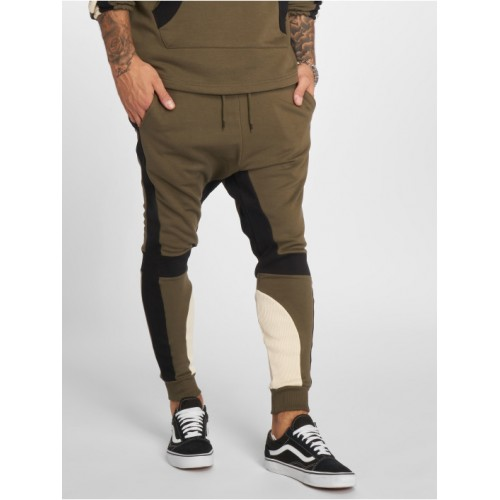 VSCT Clubwear Men Sweat Pant Racer in khaki cotton 15% polyester New Arrival ICXQF399