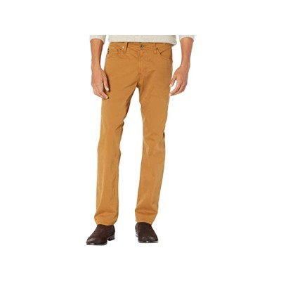 Men AG Adriano Goldschmied The Graduate Tailored Straight SUD Sueded Stretch Sateen Roasted Seed 8217834 MWKAU663